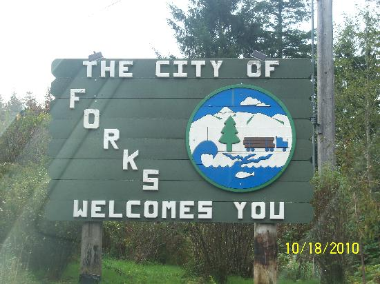 ‪‪Forks‬, واشنطن: The sign‬