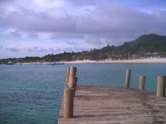 West Bay Beach : from the dock by infinity bay resort