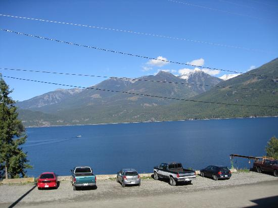 View of lake from Kaslo Hotel