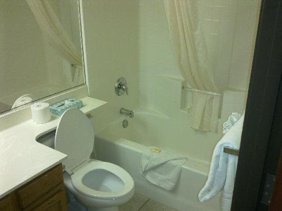 Island Suites: The bathroom.