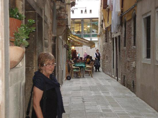 """Room in Venice Bed and Breakfast: Our alleyway with """"local"""" on the corner"""