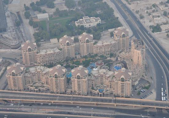 Roda Al Murooj : Hotelkomplex von 124 . Etage des Burj Khalifa gesehen