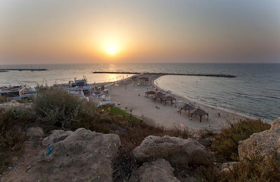 ‪ميلودي هوتيل: The nearby beach in Tel Aviv‬