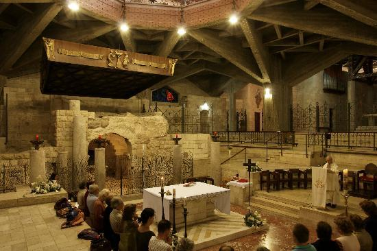Nazareth, Israel: cappella e casa di Maria