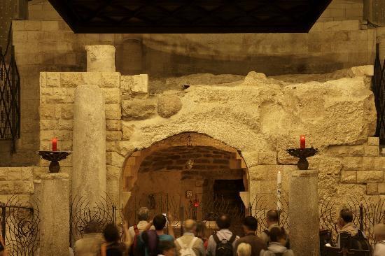 Nazareth, Israel: grotta dell'annunciazione (resti)