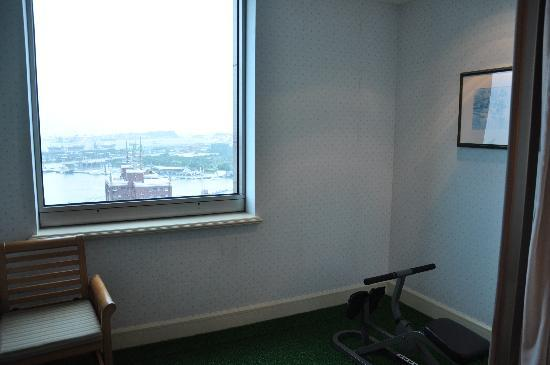Grand Hi-Lai Hotel Kaohsiung: balcony with fitness equipment