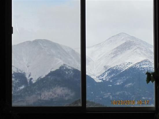 Salida, CO: view out the windows in the lounging area