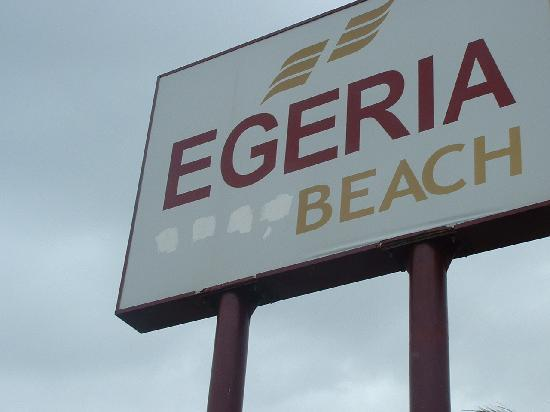 Egeria Beach Club : main sign(painted out stars