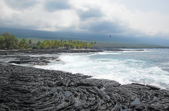 Honaunau, ฮาวาย: Lava Field & the Ocean