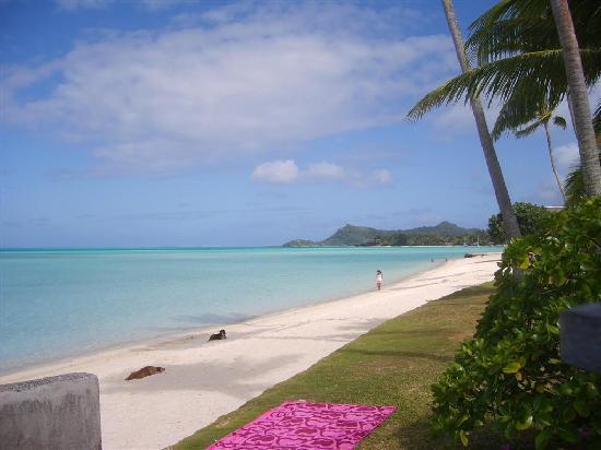 Hotel Matira : spiaggia vista dal bungalow