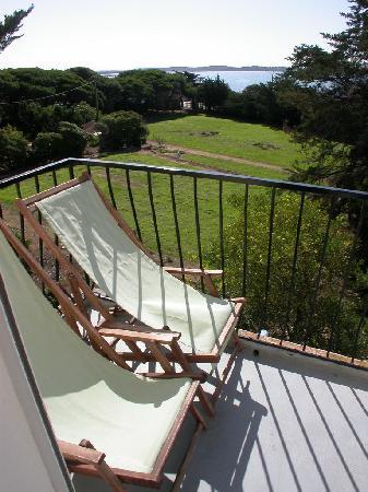 Hotel Port Helene : Vue d'un balcon