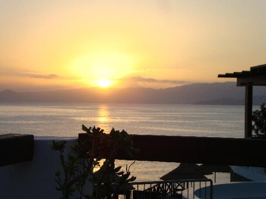 Tui Sensimar Elounda Village Resort & Spa by Aquila: sunrise from our terrace