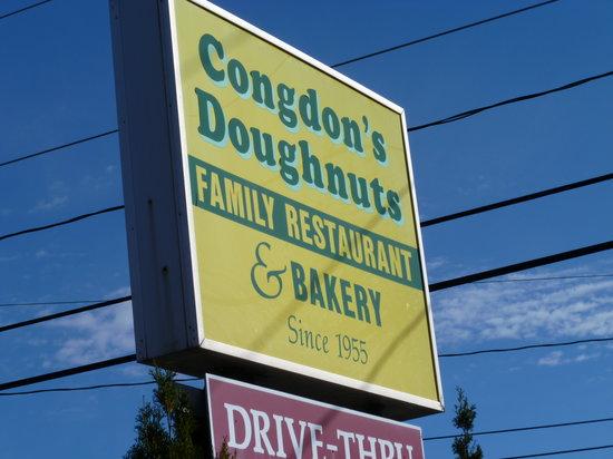 Congdon's Doughnuts: Sign