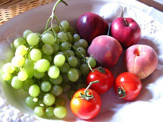 Zampugna Agriturismo: Welcome Fruit Bowl