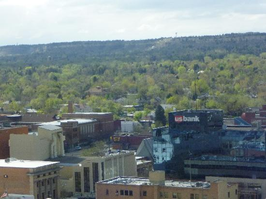 Billings, MT: View of downtown from restaurant level