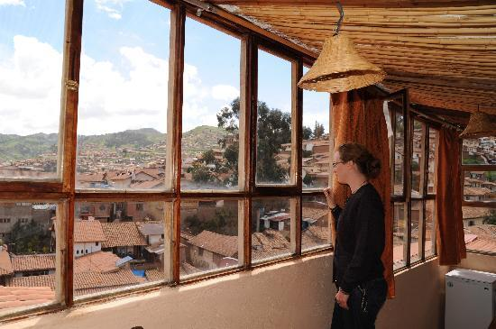 Casa de Mama Cusco-The Treehouse: View from top apartment looking over Cusco.