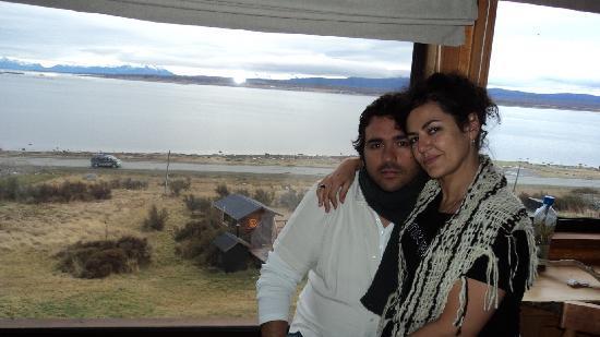 Weskar Patagonian Lodge: El fiordo a nuestras espaldas