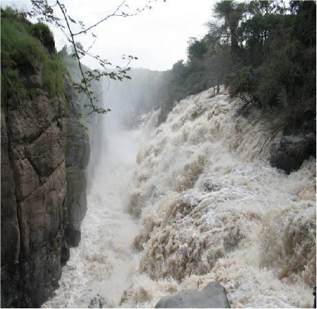 Awash National Park, Etiopia: Awash River Falls, the second largest fills in Ethiopia, next to the Blue Nile Falls.
