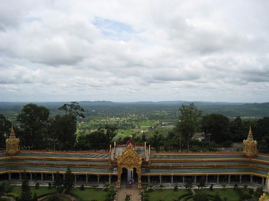 Roi Et, Tailandia: Ausblick von der zweiten Terrasse des Chedi