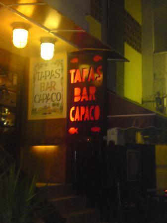Tapas Capaco: Outside the Capaco