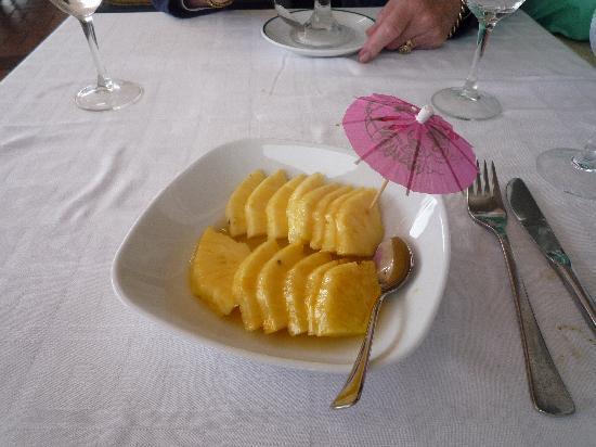Portofino : Fresh Pinnaple with Kirsch
