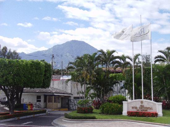 Real InterContinental San Salvador at Metrocentro Mall: El Boqueron volcano (dormant) behind hotel