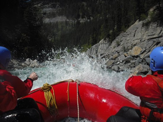 Alpine Rafting: View looking down the River