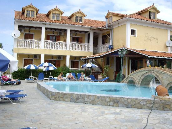 Pool area, Elpida Hotel