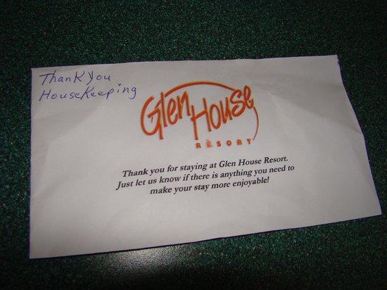Glen House Resort: ...such sincerity....