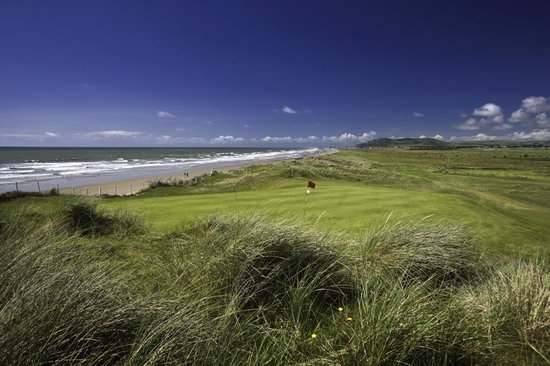Aberdyfi (Aberdovey), UK : Aberdovey golf club - 12th green