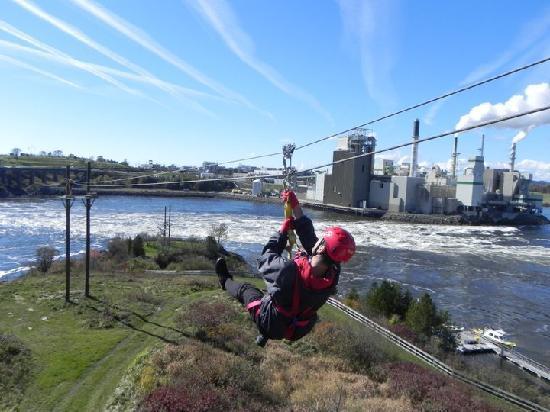 Saint John Adventures Zipline: 3rd Zipline