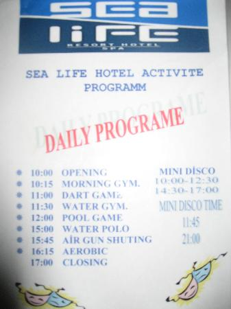 Sealife Family Resort: Non-existent Activities