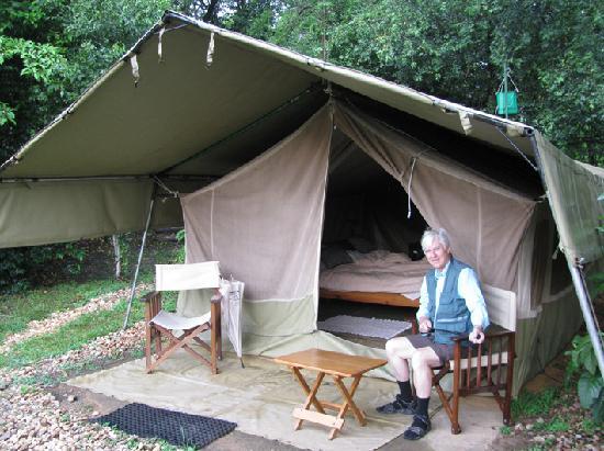 Ishasha Wilderness C& - Queen Elizabeth National Park tent on riverside & tent on riverside - Picture of Ishasha Wilderness Camp - Queen ...