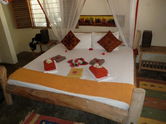 Kilima Kidogo Guesthouse: our bed