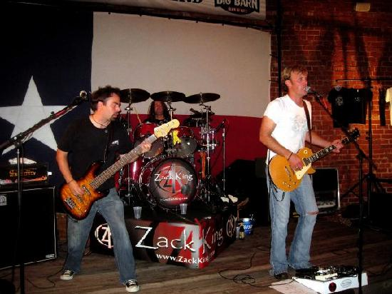 BIG BARN BAR-B-QUE: Zack King Band on stage in The Backyard at BIG Barn!