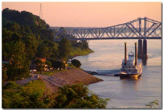 Natchez Under-the-Hill at sunset