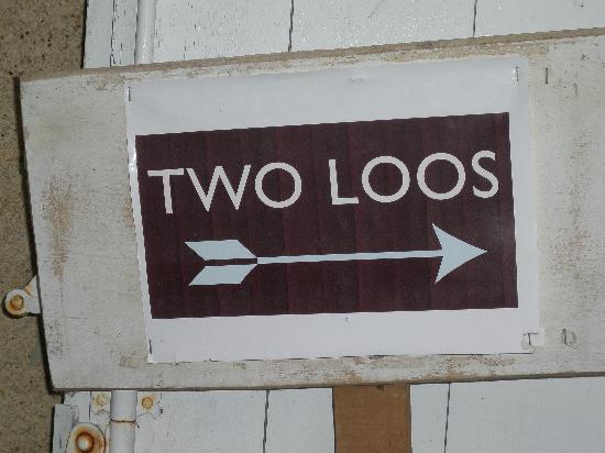 Chateau de Lartigolle : Sign for toilets