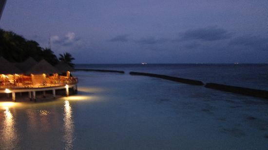 Baros Maldives: dusk from lighthouse bar
