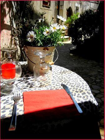 Uno dei ristoranti a Calcata
