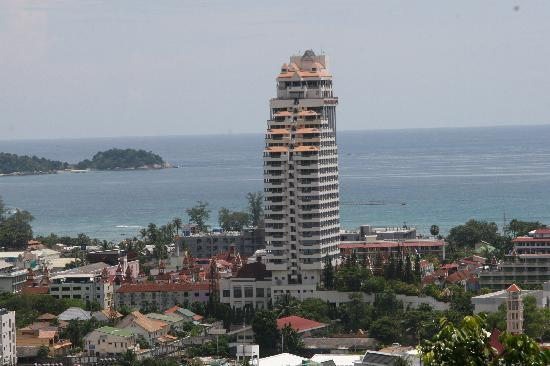 The view from Hilltop hotel, patong