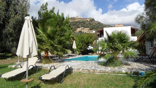 Hotel Irida Plakias: Pool and garden area