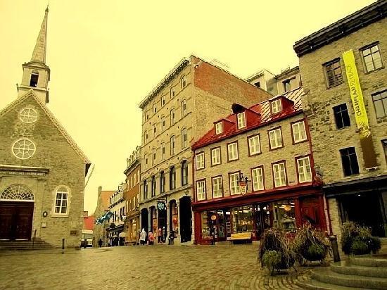 Quebec City, Canada: Place Royale, near Petit le Champlain