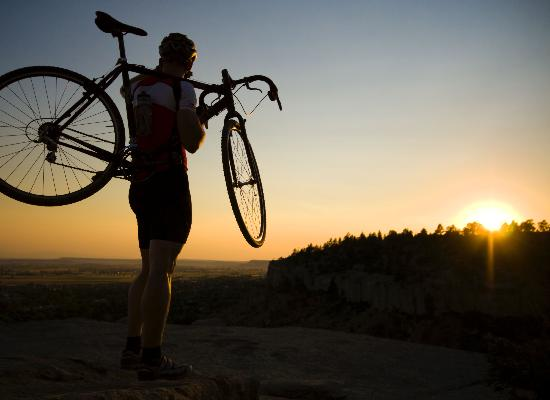 Montana Bicyclist enjoying the views - from the Billings Convention & Visitors Bureau