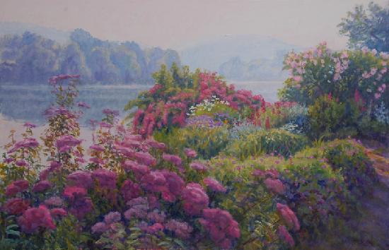 Atelier galerie du bord de Seine: Jardin du peintre