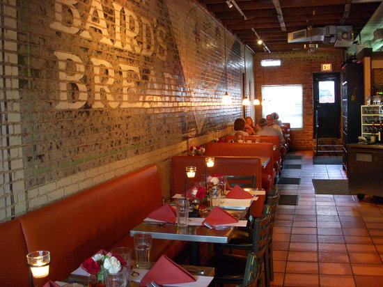 Lili's Bistro: Historic Mrs. Bairds Bread ad on the interior wall