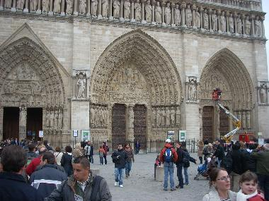 The gothic carving at Notre Dame is among the finest in the world