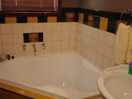 Snug Cove Bed and Breakfast: so i'm not the best photographer... corner bath!