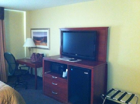 Comfort Inn: TV, fridge, microwave, desk, etc