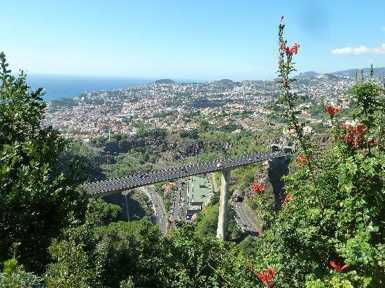 Madeira Botanical Garden : BLick auf die AUtobahn und Funchal