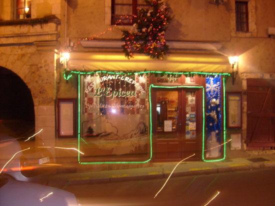 L'Epicea: la façade du restaurant